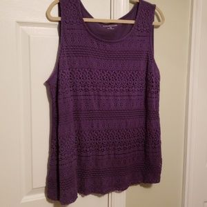 Croft & Barrow purple tank 1x